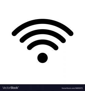 Wifi icon in black